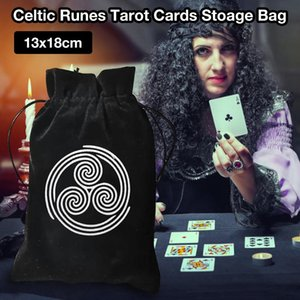 Thick Velvet Tarot Storage Bag Celtic Runes Protective Card Board Game Embroidery Drawstring Bag 13x18cm yxlHNA longdrake