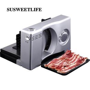 Semi-automatique viande trancheuse électrique Accueil Mutton Rolls Meat Grinder machine