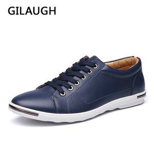 GILAUGH Brand New Classic Стиль Повседневная мода Простой Дизайнерские Мужская обувь, Плюс Размер Light Удобные квартиры