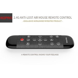 Wechip W2 Pro Voice Remote Control 2.4G Wireless Keyboard Air Mouse IR Learning Microphone Gyroscope for Android TV Box H96 MAX