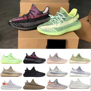Kanye West Sneakers Treinando sapatos Mulheres e Homens Correndo Tênis Terra Yeezreel Reflexivo Butter Sesame Frozen Triple White Sports Sapatos