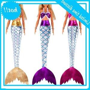 3PCS Poupées Robe de la sirène Vêtements de conte de fées à la main pour BJD Toys Toys Outfit Tail pour 11-12in 30cm Doll Girl Cadeau