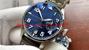 Hombre de lujo de calidad superior Cal.51111 46 mm reloj de dial azul de 7 días ahorros dinámicos de zafiro para hombre mecánico automático 2021 relojes