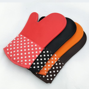 Oven Silicone Waterproof Gloves Microwave Oven Mitts Slip-resistant Heat Resistance Bakeware Kitchen Cooking Grill BBQ Tools DWA1745