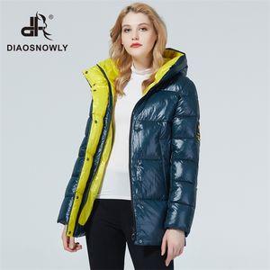 Diaosnowly зимняя куртка женщин куртки и пальто средней Lenth толстый зимний Parka женщина пальто теплый бренд дамской одежды 201015