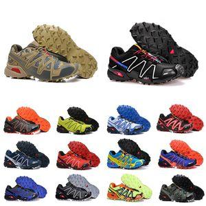 Renkli hız 3CS Açık erkek Koşu çapraz Ayakkabı SpeedCross 3 koşucu III Siyah Yeşil Eğitmenler Erkekler Sneakers chaussures zapatos 40-46