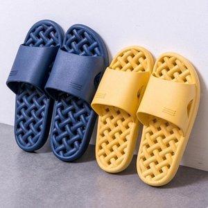 Bevergreen Ev Kadın Terlik Yaz Nefes Hızlı Kuru PVC Banyo Terlik Oymak Kaymaz Ev Ayakkabı Çift # 8Y0R