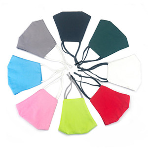 Máscara de cara Diseñador de máscaras de algodón con filtro negro azul rosa rojo Tres capas Polvo a prueba de polvo Máscaras transpirables bridas colgantes Facenas Facemask 6 Color