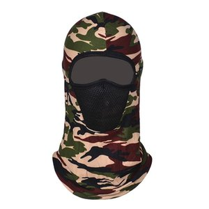 Windproof Tactical Camouflage Balaclava Full Face Mask CS Wargame Army Hunting Cycling Sports Helmet Liner Cap Scarf