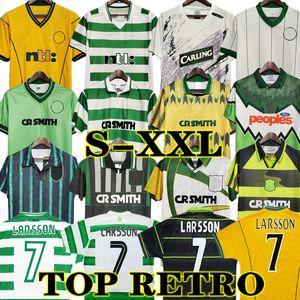 Larsson 98 99 Celtic Retro Futbol Formalar Eve Klasik 82 84 86 03 04 95 96 97 Vintage Futbol Gömlek Nakamura Keane 2005 06 1989 91