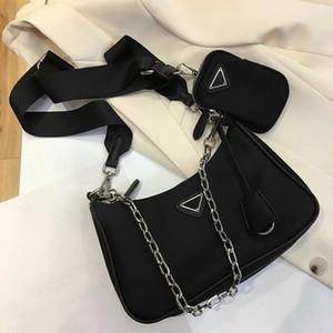2021 Totes de designer de luxo bolsas de alta qualidade bolsas de nylon carteira mulheres sacos crossbody saco hobo bolsas de dois tons de moda fashion bolsas de ombro