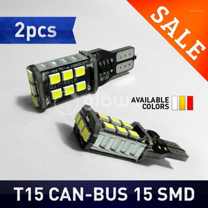 2pcs New T15 15SMD 7.5w W16W LED Light Car LED NO ERROR Back UP light rear Lamp white Car styling Free shipping GLOWTEC1