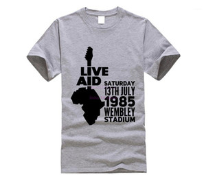 Live Aid Rock Music T-shirts Queen 100% Cotton Electronic Guitar Hip Hop Dance Concert Tshirts For Youth Fashion Band Tops Tees1