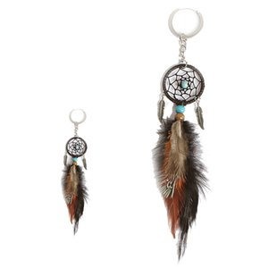 Mini Dream Catcher Keychain Creative Car Accessories Hanging Handmade Vintage Feather Decoration Ornament Party Gifts Keychains