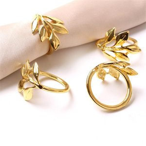 Fall Leaves Napkin Rings Christening Bangle Metal Napkin Holder Wedding Gifts Baptismal Shower Party Decor