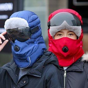 Chapéu Mens Inverno Ao Ar Livre Mantenha Earflaps Quentes Chapéu Das Mulheres Outono e Inverno Equitação De Carro Elétrico Prova De Proteção Frio à prova de vento