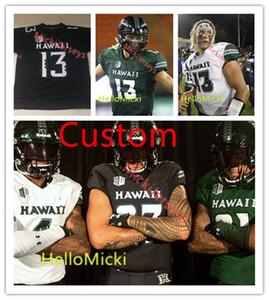 Mens personalizzato NCAA Hawaii Arcobaleno Guerrieri del calcio Jersey Boone Abbott Michael Washington Isaia Tufaga Lincoln Victor Hawaii Jersey S-3XL
