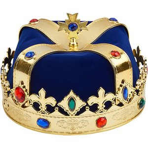 Halloween King Crown Birthday Crown Children Adult Christmas Masquerade Decoration Cosplay Props Wholesale