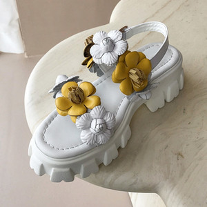 2021 vera pelle Nuove scarpe gialle High Yellow Party Gladinor Sandals Size 34-39 GHzw