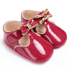Baby Girls Princess Shoes Bowknot Soft Moccasin Infant Toddler Girl Leather Crib Shoes 0-18M