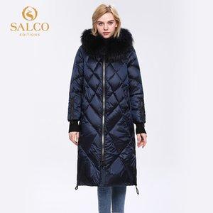 Salco GRATIS Envío El último abrigo de piel de invierno de invierno de algodón de perlas de granjado grande 20127