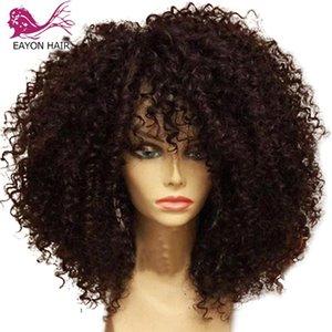 EAYON brasilianische lockige Silk Basis Schließung Menschenhaar-Perücken 5x5 Silk Basis Curly Lace Perücken 4x4 Closure menschliches Remy Haar