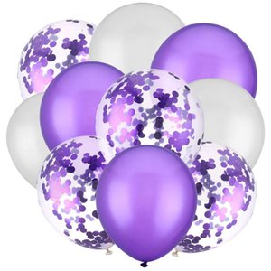 10pcs 12inch Latex Air Balloons Happy Birthday Party Decoration Wedding Helium Ballon Valentine's Day Baby Boy Girl Kids Rose bbyWle