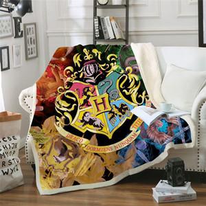 Draco 3D Animal Stampato Sherpa Couch Quilt Cover Viaggi Bambino Bedding uscita di velluto Buttare Coperta in pile Copriletto