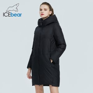ICEbear new product women's parka Windproof and warm casual women's cotton-padded jacket Fashionable hooded coat GWD20129D 201014