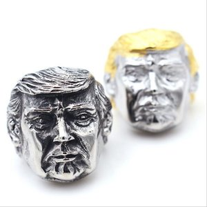 High Quality Mens 316l Stainless Steel Donald Trump Ring Silver Gold American President Ring Jewelry Gift Size 7-15