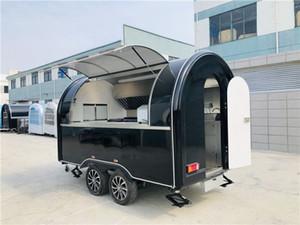 Mobil Gıda Treyler Gıda Kamyonu 340x200x240cm Siyah