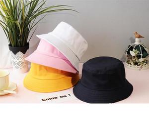 Unisex Summer Foldable Bucket Hat Women Outdoor Sunscreen Cotton Fishing Hunting Cap Men Basin Chapeau Sun Prevent Hats dc456