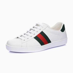 2019 Ace Arı İşlemeli Deri Sneakers OriginalsGUCCI Hava Kaykay Yerleşik Ace Küçük Arı C22 Ayakkabı