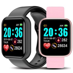 Y68 스마트 시계 방수 블루투스 혈압 피트니스 추적기 심박수 모니터 D20 Smartwatch Apple iOS Android