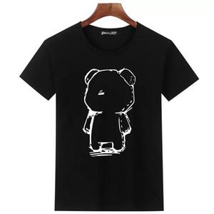2019 Brand summer t shirt men's casual short sleeve cotton tops tees print men t shirt hip hop male T-shir M-3XL