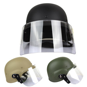 Airsoft Paintabll Shooting Helmet Head Protection Gear M88 Style Helmet Tactical Airsoft ABS Helmet with Goggles NO01-054
