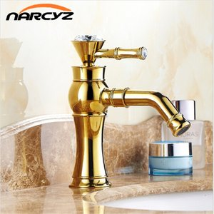 New Luxury Golden Basin Faucets With Diamond Swivel Mixer Taps Single Hole Sink Faucet Torneira Banheiro XT810