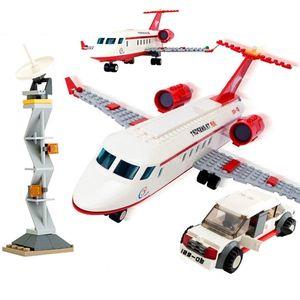 Large Passenger Plane Airplane Block Assembly Avion Creator Bricks Model City Building Blocks Sets Educational Toys For Children C0119