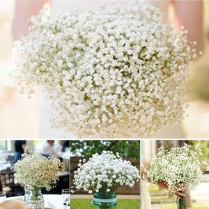 Zarif Beyaz Gypsophila Bebek Nefesi Yapay Sahte Ipek Çiçekler Gelin Nedime Holding Çiçekler Buket Tesisi Ev Dekorasyonu Süsleme Için