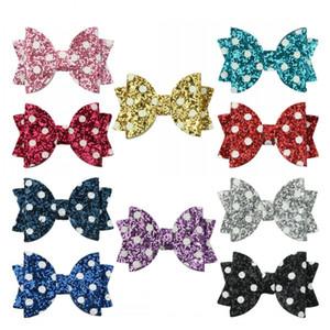 아기 소녀 헤어 클립 웨이브 포인트 활 Bartettes 악어 블링 스 시니 Bowknot Hairpins Girls Toddler Gifts Kimter-C453FZ에 대 한 액세서리