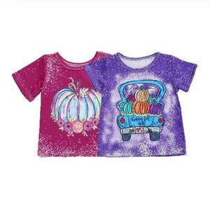 INS Halloween Girls T-Shirt pumpkin short sleeve kids T shirt baby Tshirt cotton Cartoon Girls Tee Shirt baby girl clothes B2707