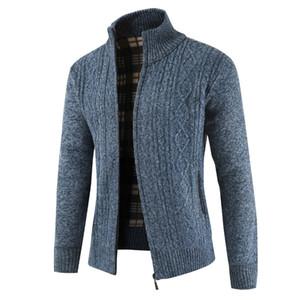 NEGIZBER Maglione Moda Uomo Selvaggio monocromatico maglione casuale collare più velluto Maglione Uomini