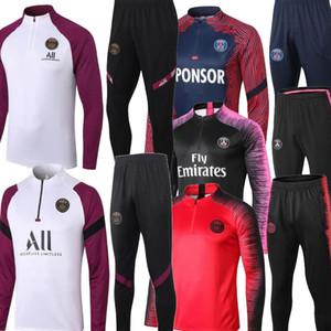 20 21 Paris Mbappe Blanc Rouge Noir Black Hommes Tracksuits Verratti ICARDI CLUB CLUB-UP TRACKSUIT Veste MBappe Paris Football Former 2021