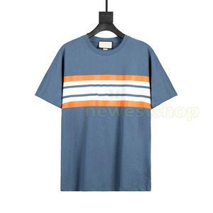 20ss Yeni Stil Yaz Barre Mark T Gömlek Geometrik Mektup Baskılı Tee Basit Moda Kısa Kollu T Shirt Yüksek Sokak 3 Renk T-shirt