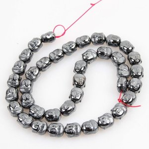 Natural Stone 9*10mm Hematite Non-magnetic Bright Buddha Head Energy Loose Bead Jewelry Making DIY Bracelet Necklace Accessories1