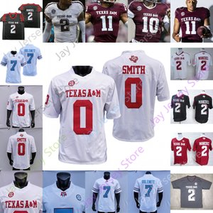 Texas am Aggie Football Jersey Ncaa College Johnny Manziel Kellen Mond Spiller Ainias Smith Caleb Chapman Jalen Preston Chase Clone Clemons