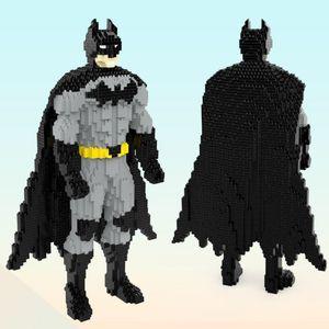 HC 9887 Super Hero Batmaned Dark Knight 3D Model 3378pcs DIY Diamond Mini Building Small Blocks Bricks Toy for Children