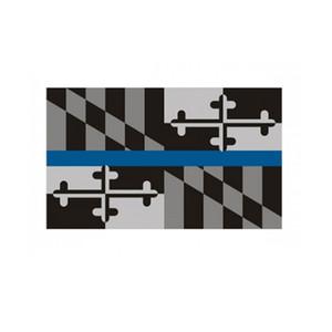 Maryland dünne blaue Linie Flagge 3x5 ft Polizei Banner 90x150cm Festival Geschenk 100D Polyester Indoor Outdoor Printed Flags und Banner