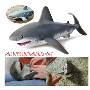 Lifelike Infant Shark Toy Anti Stress Squeeze Big Shark Collection Toy For Kid Gift Great White Shark Model