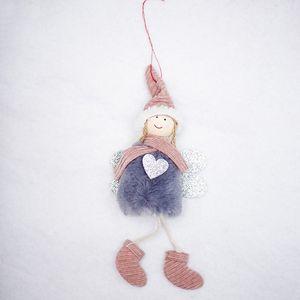 Christmas Decorations Doll Pendant Christmas Cute Angel Plush Doll Christmas Tree Decoration Pendant Kids Toys GWA1998